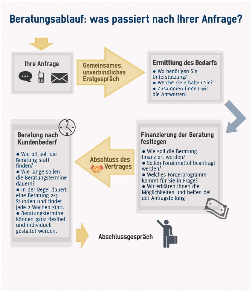 Infografik Coachingprozess