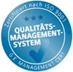 Siegel Qualitätsmanagementsystem
